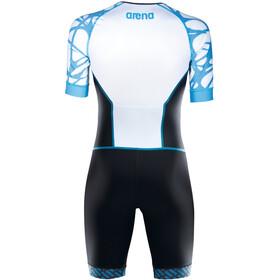 arena ST Aero Front Zip Trisuit Men black/white/aqua blue